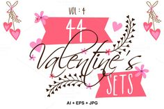 Valentine's Day Sets - Vol 4 by Allies Interactive on Creative Market