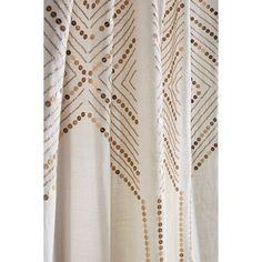 Anthropologie Linear Sequin Curtain (5.095 RUB) ❤ liked on Polyvore featuring home, home decor, window treatments, curtains, sequin curtains, anthropologie curtains, anthropologie home decor and anthropologie