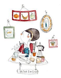 Solenne Larnicole: breakfast