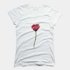 Poppy Watercolor is a Women's T-Shirt designed by MaryAliceArt to illustrate your life and is available at Design By Humans Flower Watercolor, Ringer Tee, Muscle Tanks, Poppy, V Neck T Shirt, Shirt Designs, T Shirts For Women, Tank Tops, Store