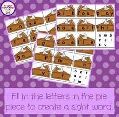 Pumpkin Pie Letter F