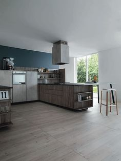 Darker tones of wood help create a more inviting setting