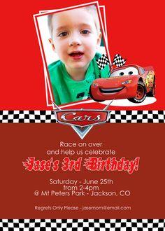cars birthday invite
