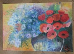 FLOWERS Watercolor painting by ArtbyEfka on Etsy