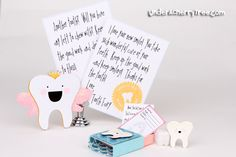 Use the Silhouette Cameo with Lettering Delights SVGs to create cards, and other papercrafts. Includes Make-the-Cut and Silhouette Studio tutorials. Tooth Fairy Note, Tooth Fairy Receipt, Tooth Chart, Tooth Box, Baby Journal, First Tooth, Making Memories, Happy Kids, Crafts For Kids