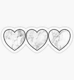 white marble hearts Pegatina