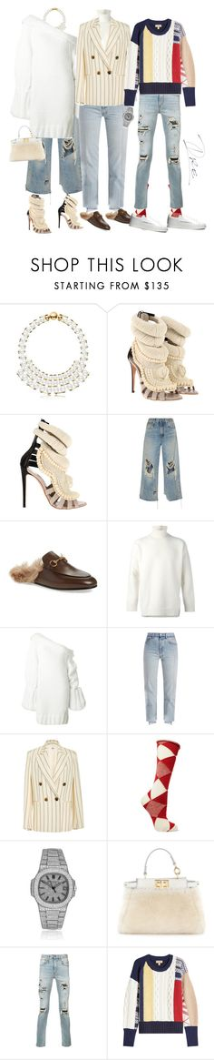 """""""Give Thanks"""" by stylinwitdre ❤ liked on Polyvore featuring Giuseppe Zanotti, R13, Gucci, Ports 1961, Marques'Almeida, Vetements, Khaite, Burberry, Patek Philippe and Fendi"""