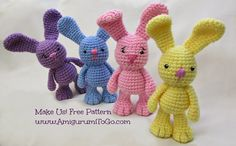 Pretty Nails and Tea: Amigurumi Free Crochet Patterns | Little Cute Crocheted Animal Toys