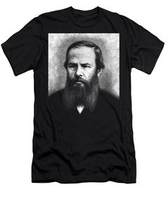 Purchase a t-shirt featuring the image of Fyodor Dostoyevsky, portrait by Cu Biz. Each t-shirt is printed on-demand, ships within 1 - 2 business days, and comes with a money-back guarantee. Portrait, Face, Mens Tops, T Shirt, Tee, Men Portrait, Portrait Illustration, Faces, Tee Shirt