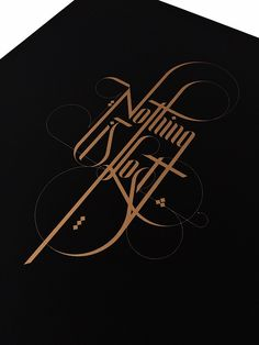 Nothing Is Lost Lettering Creative Lettering, Lettering Styles, Graffiti Lettering, Lettering Design, Hand Lettering, Typography Quotes, Typography Letters, Graphic Design Typography, Typographie Logo