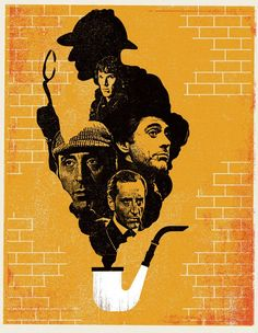 The Faces of Sherlock Holmes. Missing Jeremy Brett though