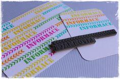Cling razítko Informace s barevnými inkousty