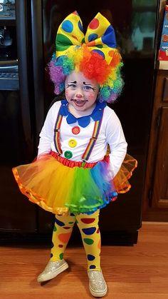 Clown costume 2015 Girl Clown Costume, Circus Costume, Carnival Costumes, Kids Costumes Girls, Family Costumes, Halloween Costumes For Girls, Kids Girls, Little Girls, Costumes 2015