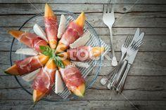 Melon Prosciutto Mozzarella Royalty Free Stock Photo