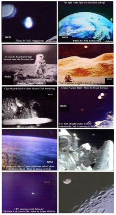 UFO images recently released from NASA of multiple sighting on the moon missions.