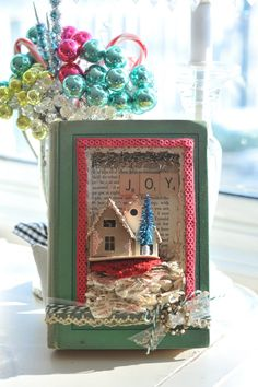 Shadow box book Petite Retreat: More Homemade Holiday Cheer
