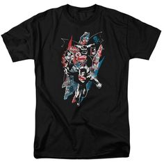 0cb14af0f0a4d Batman V Superman Ripped Trio 2 Adult Regular Fit T-Shirt Superman Shirt