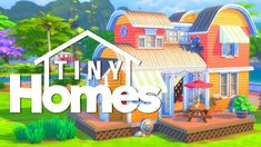 3 bedrooms* are included in this lovely little home which I think would be perfect for your frugal sims to live in style! Sims 4 House Plans, Sims 4 House Building, The Sims 4 Lots, Sims 4 Family, Play Sims 4, Cartoon House, Sims House Design, Sims 4 Mm, Sims 4 Build