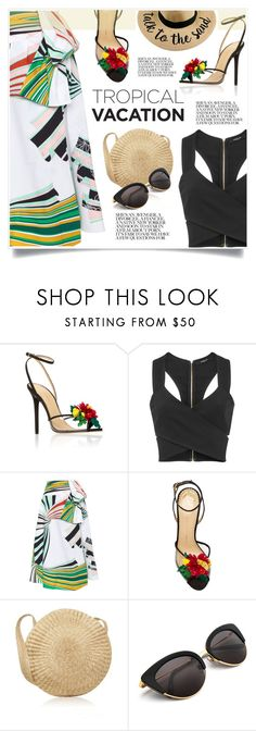 """""""Tropical Vacation"""" by jecikilicica ❤ liked on Polyvore featuring Charlotte Olympia, Derek Lam, Emilio Pucci and TropicalVacation"""