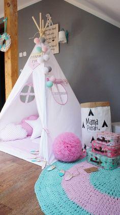 Tipi set Snow Queen / Kinder /Play /Tent /Tipi von MamaPotrafi