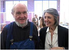 American minimal artist Carl Andre and gallerist Paula Cooper were awarded France's highest cultural distinction, the order of arts and lettres.
