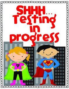FREE Superhero Testing Sign