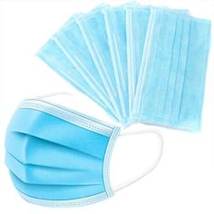 Blue Prevent Bacteria Mouth face Mask Disposable Non-Woven Three-layer Filter Unisex Anti-dust Mouth Nose Proof Masks – Face Mask – Corona Mask Unisex, Flu Mask, Medical Dental, Mouth Mask, Pli, Ear Loop, Layering, Ebay, Face Masks