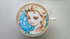 Some Lattes, Like This Frozen-Inspired One, Are Worth Melting For: Frozen fans, it's OK to lose your cool over this incredible Elsa-inspired latte.