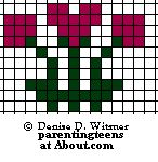 Safety Pin Bead Patterns | Roses Beaded Safety Pin Patterns for Valentines and Love