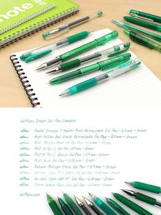 Looking for the perfect green gel pen but don't know where to start? With this sampler pack, you can experience the crisp and vivid writing of ten of our most popular green gel pens!