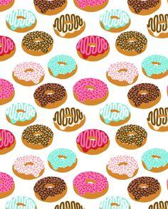 Donuts art print junk food pattern design kids minimal modern kitchen baking breakfast hipster baker Art Print