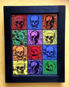 SMALL SKULL FRAME Small Skull, Carrie, It Is Finished, Gallery, Frame, Artist, Handmade, Painting, Vintage