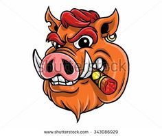 Find Wild Boar Hog Pig Head Character stock images in HD and millions of other royalty-free stock photos, illustrations and vectors in the Shutterstock collection. Pig Illustration, Character Illustration, Hog Pig, Sak Yant Tattoo, Human Drawing, Wild Boar, Woodland Creatures, Pictures To Draw, Dog Art