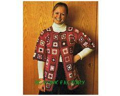 Granny Square Crochet Top Pattern 70's Vintage Womens Jacket Top  PDF Crochet Pattern Instant Download :  Granny Square Crochet Top Pattern 70's Vintage Womens Jacket Top  PDF Crochet Pattern Instant Downlo  #70s #Crochet #download #Granny #Instant #Jacket #Pattern #PDF #Square #Top #Vintage #Womens Crochet Santa, Cute Crochet, Crochet Top, Sweater Knitting Patterns, Afghan Crochet Patterns, Granny Square Sweater, Winter Hats For Women, Crochet Hook Sizes, Winter Sweaters