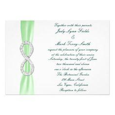 Diamond Heart White Wedding Bridesmaid Card Invitations