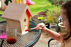 Painted Birdhouses: kid craft idea