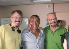 """35 Pictures That Will Change The Way You Look At """"Breaking Bad"""". The boys getting together for a casual picture."""