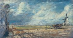 Spring; East Bergholt Common by John Constable, Oil on panel. East Bergholt, England, 1814 | Shop the V&A collection at surfaceview.co.uk