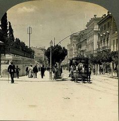 Stadiou str, old Parliament, 1908