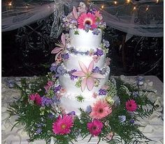 Flowers for wedding cake - WED016