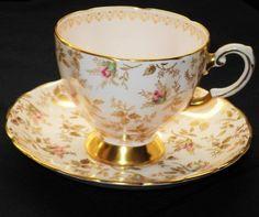 Tuscan Rose Sunshine Gold  Tea cup and saucer