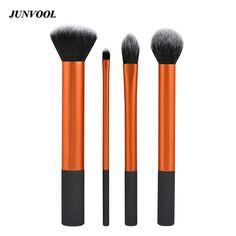 Nuovo 4 pz Principiante Pennelli Trucco Portatile Pennello Cosmetico Professionale Spazzole Tecniche di Trucco In Polvere Set Kit Make Up Strumento