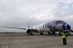 Out of this world: The Star Wars-themed plane has fired up the imaginations of fans everywhere