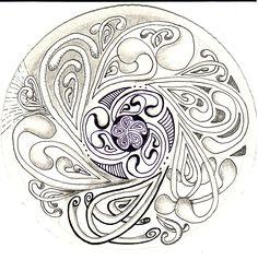 inquisitive-Sue: Zentangle Challenge #111 - Mooka Madness - Monotangle - Mania