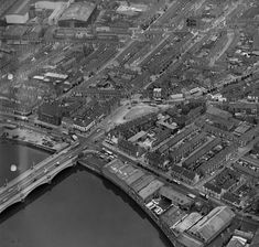 Aerial photograph of the south western edge of the Short Strand area showing Woodstock Triangle, Short Strand, Ravenhill Road, Thompson Street. Bucket List Holidays, Belfast Northern Ireland, Donegal, Days Out, Woodstock, Day Trips, City Photo, History, Triangle