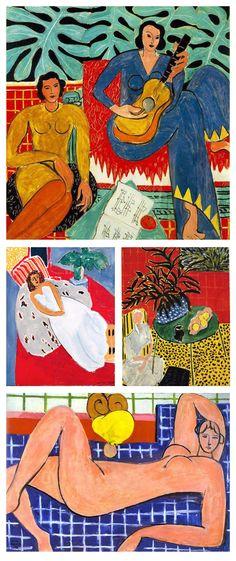 peinture française : Henri Matisse, 1935, 1939, 1946, 1948, musique, nu, intérieur, 1930s-1940s