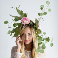 Pin for Later: Your Favorite Bloggers' Halloween Costumes Are Their Best #OOTDs Garden Nymph Floral crowns + pretty dress = Instant Nymph.