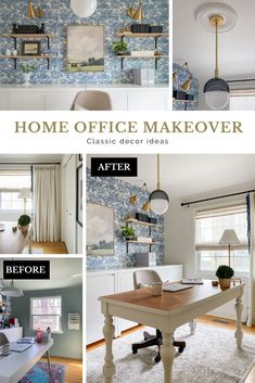 classic home office, classic home office decor, home office decor ideas, home office for her Workspace Design, Home Office Design, Home Office Decor, Office Ideas, Transitional Home Decor, Transitional Living Rooms, Home Office Storage, Home Office Organization, Diy On A Budget