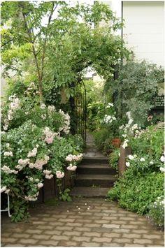 Garden Stairs, Garden Gates, Balcony Garden, Love Garden, Green Garden, Monet, Starting A Garden, White Gardens, My Secret Garden
