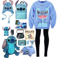 LILO AND STITCH A fashion look from December 2015 by moonlight-maddie featuring NIKE and Disney Source by clothing Cute Disney Outfits, Disney Themed Outfits, Disney Shoes, Teen Fashion Outfits, Mode Outfits, Peluche Stitch, Vintage Louis Vuitton, Familie Symbol, Lilo And Stitch Quotes
